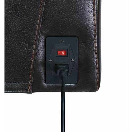 Zimmerman Dark Brown Faux Leather Power Motion Recliner
