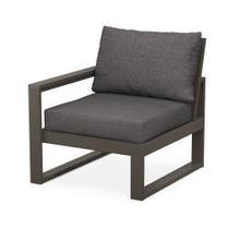 EDGE Modular Left Arm Chair in Vintage Coffee / Ash Charcoal