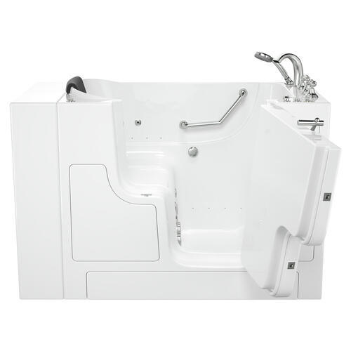 Gelcoat Premium Series 32x52 Outward Opening Door Combo Massage Walk-in Tub, Right Drain  American Standard - White