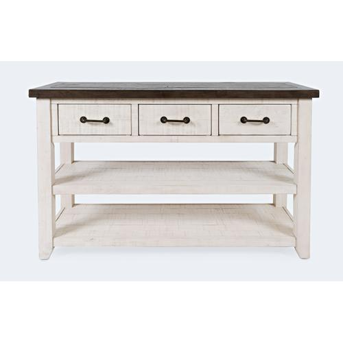 Madison County Harris 3 Drawer Console-vintage White