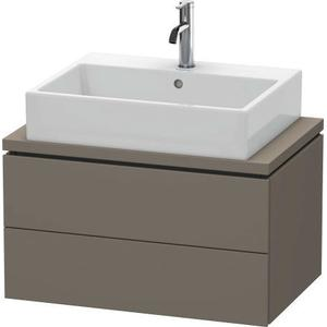 Vanity Unit For Console Compact, Flannel Gray Satin Matte (lacquer)