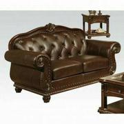 ACME Anondale Loveseat - 15031 - Espresso Top Grain Leather Match Product Image