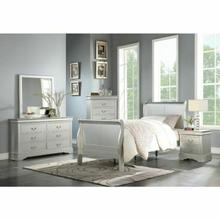 ACME Louis Philippe III Twin Bed - 26710T - Platinum