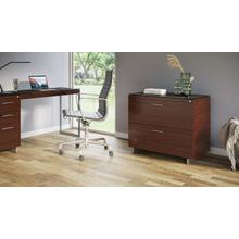 View Product - Sequel 20 6116 Lateral File Cabinet in Chocolate Walnut Satin Nickel
