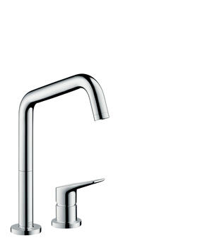 Chrome 2-hole single lever kitchen mixer 240 with swivel spout Eco Product Image