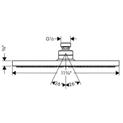 Chrome Showerhead 300 1-Jet, 2.5 GPM
