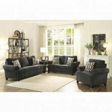 ACME Alessia Loveseat w/2 Pillows - 52826 - Dark Gray Chenille