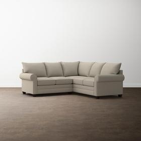 Charcoal Alexander Roll Arm Small L Sectional