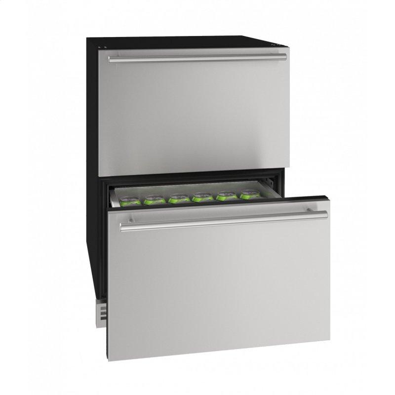 """Hdr124 24"""" Refrigerator Drawers With Stainless Solid Finish (115v/60 Hz Volts /60 Hz Hz)"""