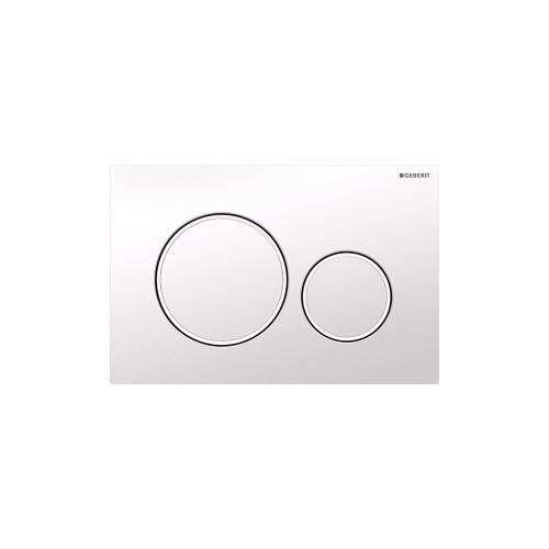 Sigma20 Dual-flush plates for Sigma series in-wall toilet systems Gloss white with matte white accent NEW! Finish