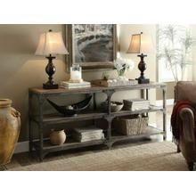 ACME Gorden Console Table - 72680 - Weathered Oak & Antique Silver