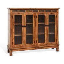 Sedona Console with 4 Glass Doors
