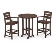 View Product - Lakeside 3-Piece Round Bar Arm Chair Set in Mahogany