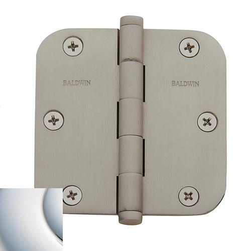 """Baldwin - Polished Chrome 5/8"""" Radius Corner Hinge"""