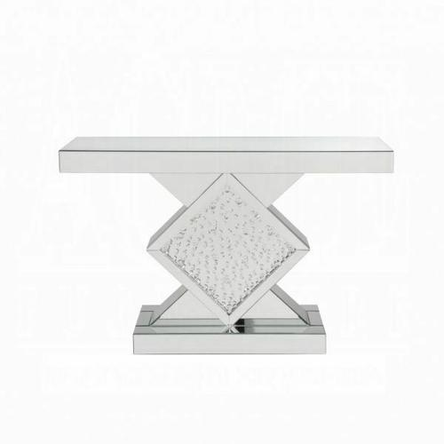 ACME Nysa Console Table - 90068 - Mirrored & Faux Crystals