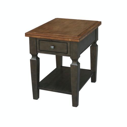 John Thomas Furniture - End Table in Hickory & Coal
