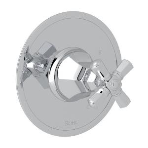 Polished Chrome Palladian Pressure Balance Trim Without Diverter with Cross Handle Product Image