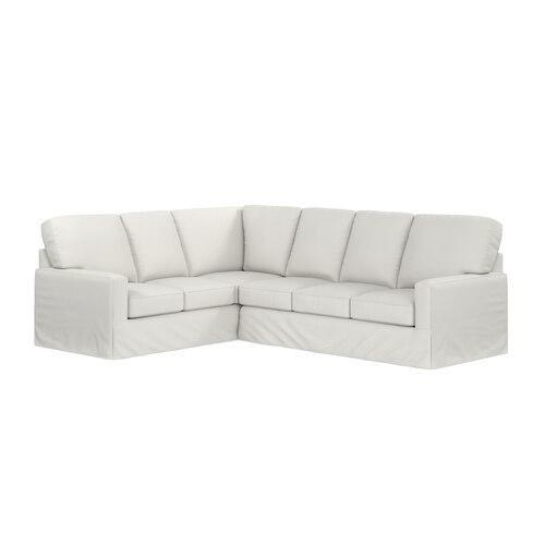 Durham L-Shaped Slipcover Sectional