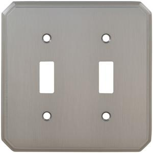 Double Traditional Switchplate in (US15 Satin Nickel Plated, Lacquered) Product Image