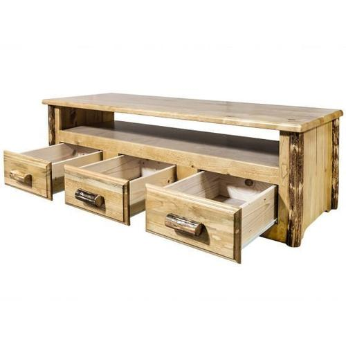 Montana Woodworks - Glacier Country Collection Sitting Chest / Entertainment Center