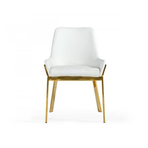 VIG Furniture - Modrest Ganon - Modern White & Gold Dining Chair
