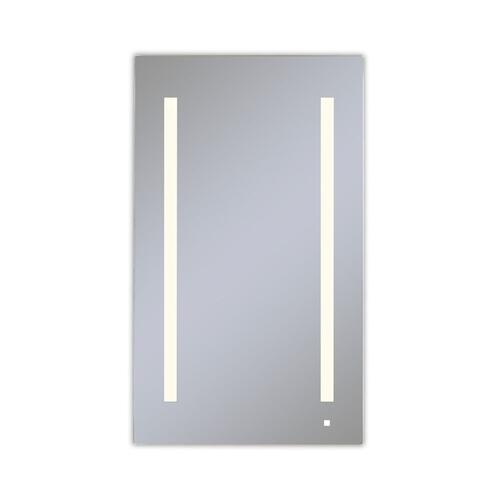 """Aio 23-1/4"""" X 40"""" X 4"""" Single Door Lighted Cabinet With Lum LED Lighting In Soft White (2700k), Dimmable, Interior Lighting, Electrical Outlet, Usb Charging Ports, Magnetic Storage Strip and Left Hinge"""