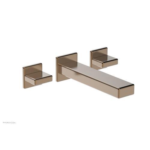 MIX Wall Lavatory Set - Blade Handles 290-11 - Old English Brass