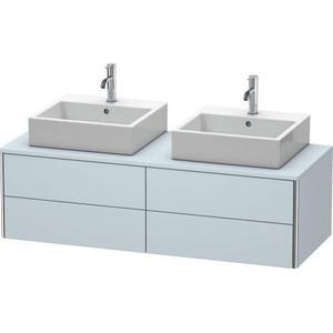 Vanity Unit For Console Wall-mounted, Light Blue Satin Matte (lacquer)