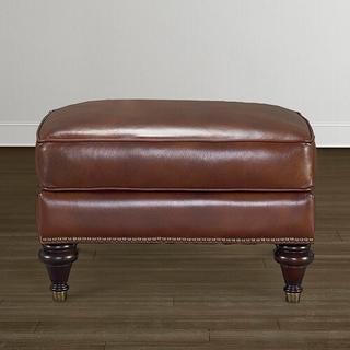Oxford Leather Ottoman