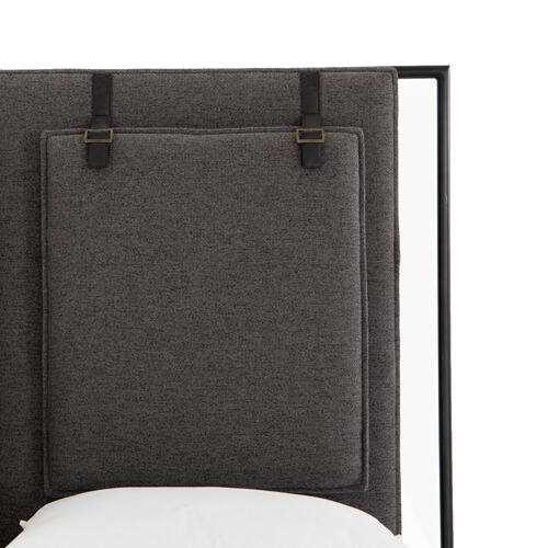 King Size San Remo Ash Cover Leigh Upholstered Bed