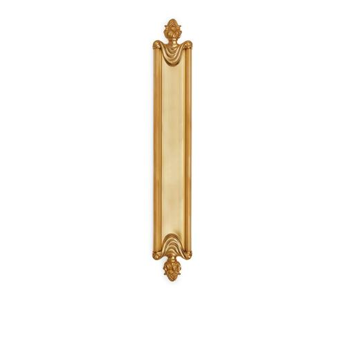 "Polished Brass Grecian 16"" Push Plate"