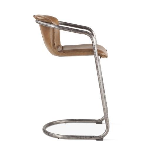 Portofino Leather Bar Chair Berham Chestnut