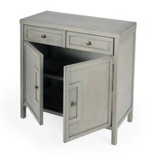 See Details - This stylish console cabinet combines Modern minimalism with Eastern design elements. Featuring clean lines and a Gray finish, its inner storage cabinet and two drawers make it a great addition in an entryway, hallway or living room. Crafted from bayur wood solids and wood products with nickel finished hardware.