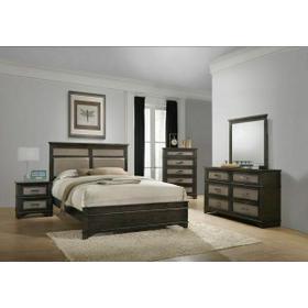 ACME Anatole Queen Bed - 26280Q - Copper PU & Dark Walnut
