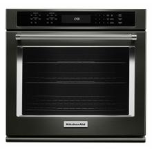 """See Details - 27"""" Single Wall Oven with Even-Heat™ True Convection - Black Stainless Steel with PrintShield™ Finish"""