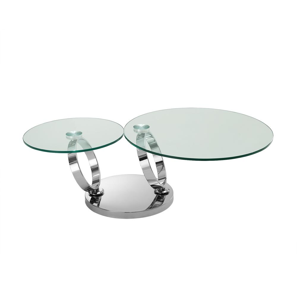 The Satellite Coffee Table In High Polished Stainless Steel Base