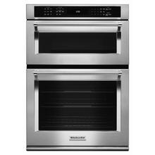 """See Details - 30"""" Combination Wall Oven with Even-Heat™ True Convection (Lower Oven) - Stainless Steel"""
