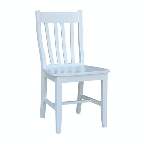 Schoolhouse Chair in Pure White