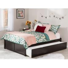 View Product - Concord Full Flat Panel Foot Board with Urban Trundle Espresso