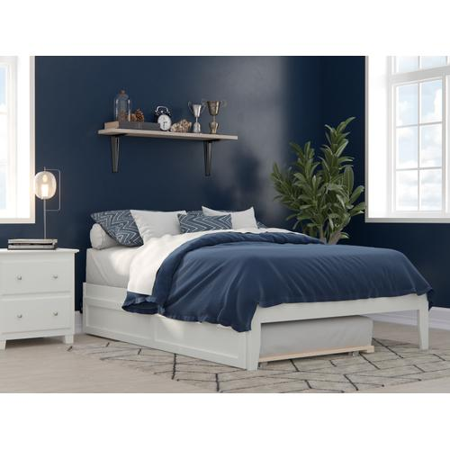 Atlantic Furniture - Colorado Full Bed with USB Turbo Charger and Twin Trundle in White