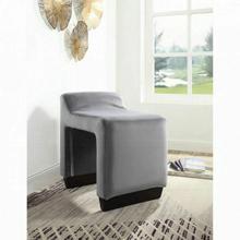 ACME Alford Ottoman - 59891 - Contemporary - Flannel, Frame: Wood (Hardwood, Poplar, Ply), Foam (28D) - Gray Flannel