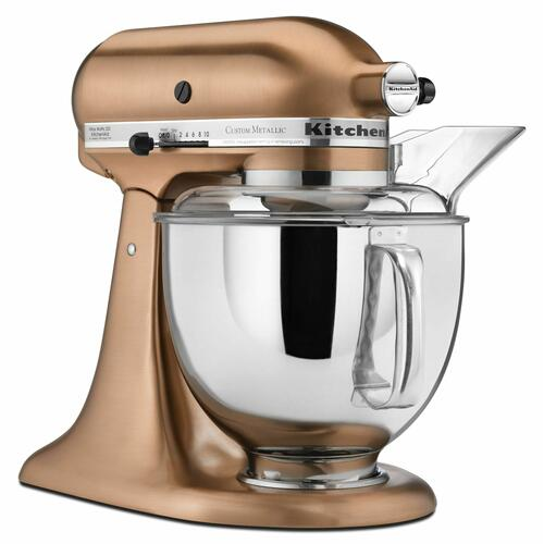 KitchenAid - Custom Metallic® Series 5 Quart Tilt-Head Stand Mixer - Satin Copper