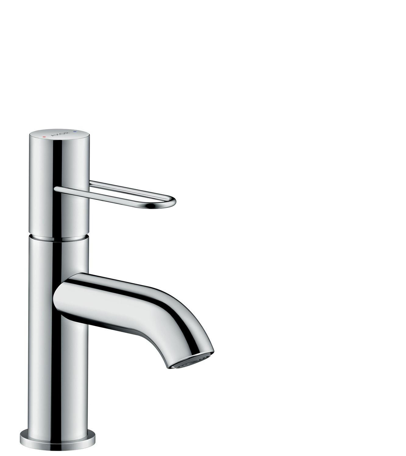 Chrome Single lever basin mixer 70 with loop handle and waste set