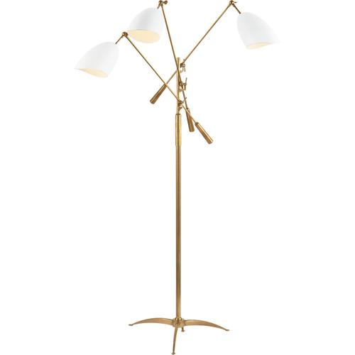 AERIN Sommerard 60 inch 60 watt Plaster White Triple Arm Floor Lamp Portable Light