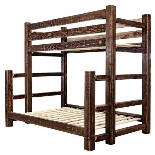 Homestead Collection Twin over Full Bunk Beds, Stain and Lacquer Finish