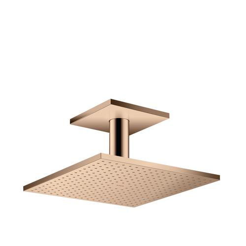 Polished Red Gold Overhead shower 300/300 2jet with ceiling connection