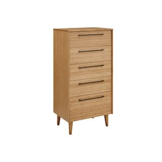 See Details - Sienna Five Drawer High Chest, Caramelized