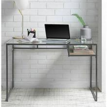 ACME Yasin Desk - 92588 - Gray & Glass