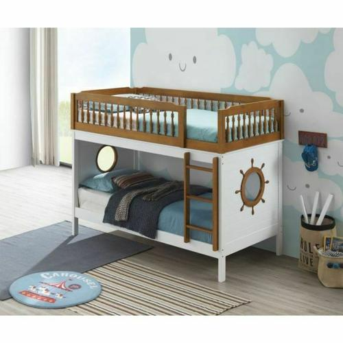 ACME Farah Bunk Bed (Twin/Twin) - 37595 - Oak & White