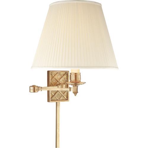 - Alexa Hampton Gene 20 inch 100.00 watt Natural Brass Swing-Arm Wall Light